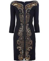 Amen Gold Sequin Dress gold - Lyst