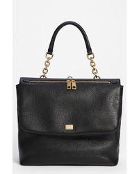 Dolce & Gabbana Miss Emma Leather Shoulder Bag black - Lyst
