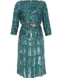 Elie Saab Three-Quarter Sleeved Fully Beaded Gown - Lyst