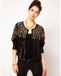 ASOS Collection Asos Trophy Jacket with Baroque Embellishment - Lyst