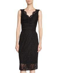 Dolce & Gabbana Net Lace Sleeveless Dress - Lyst