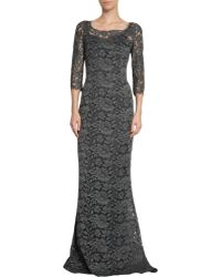 Dolce & Gabbana Floral Lace Fishtail Gown - Lyst