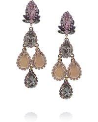 Erickson Beamon Swarovski Crystal Drop Earrings - Lyst