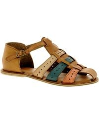 Asos Asos Fix Leather Woven Flat Shoes - Lyst