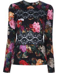 Dolce & Gabbana Floral Lace Blouse floral - Lyst