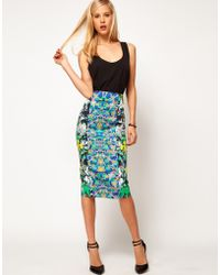 ASOS Collection Asos Pencil Skirt in Floral Print - Lyst