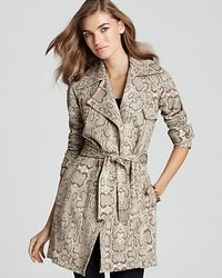 Bailey 44 Trench Coat Leopard Print - Lyst