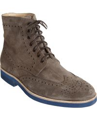 Barneys New York Brogue Boot - Lyst