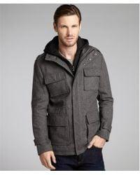 Calvin Klein  Wool-Blend Twill Hooded Jacket - Lyst