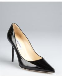 Jimmy Choo Black Patent Leather Abel Pointed Toe Pumps black - Lyst