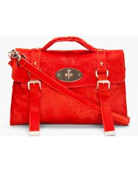 Mulberry Red Calfhair Alexa Shoulder Bag red - Lyst