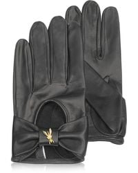 Patrizia Pepe - Laminated Leather Gloves - Lyst