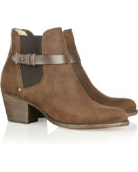 Rag & Bone Durham Brushed Leather Ankle Boots - Lyst