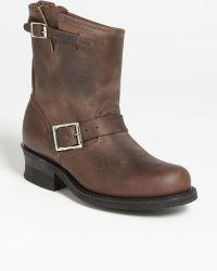 Frye 'Engineer 8R' Leather Boot brown - Lyst