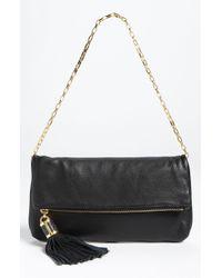 Michael Kors Tonne Leather Shoulder Bag black - Lyst