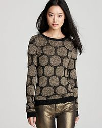 Alice + Olivia Sweater Selia Double Knit gold - Lyst