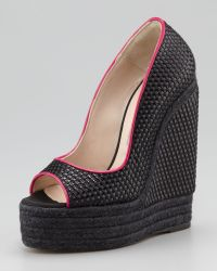 Brian Atwood | Womens Cailey Luxor Espadrille Wedge Pump | Lyst
