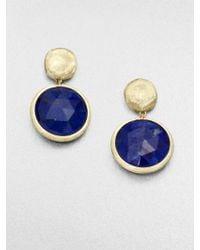 Marco Bicego Jaipur Resort Lapis & 18K Yellow Gold Drop Earrings - Lyst