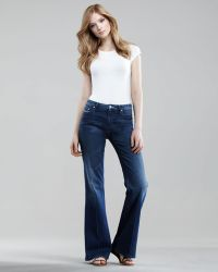 Mother The Mellow Drama Flare Jeans blue - Lyst