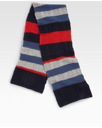 Portolano Striped Wool Scarf - Lyst