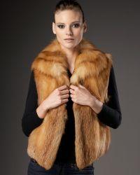 Sofia Cashmere - Fox Fur Vest - Lyst