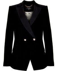 Ted Baker Montil Velvet Blazer black - Lyst