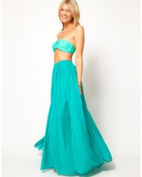 ASOS - Asos Maxi Skirt with Broderie Inserts - Lyst