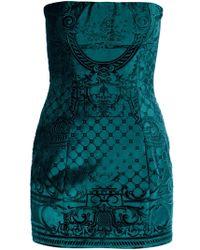 Balmain Velvet Mini Dress - Lyst
