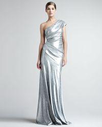 Donna Karan New York Sequined One Shoulder Gown - Lyst