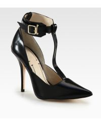 Elizabeth And James Saucy Leather Tstrap Pumps - Lyst