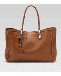 Gucci Bella Medium Tote Bag Cuir - Lyst