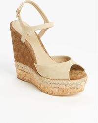 Gucci 'Hollie' Wedge Sandal - Lyst