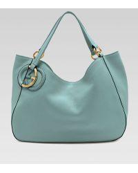 Gucci Twill Leather Medium Shoulder Bag Black 84