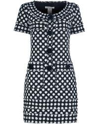 Oscar de la Renta Bouclé Silk Dress - Lyst