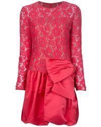 Valentino Bow Dress - Lyst