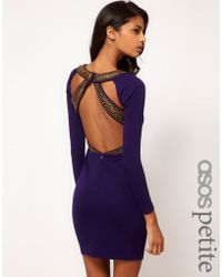 Asos Pep Hem Midi Dress With Half Sleeve blue - Lyst