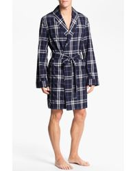 Burberry Blue Check Robe - Lyst