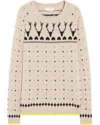 Chinti & Parker Reindeer Intarsia Cashmere Sweater beige - Lyst