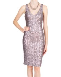 Velvet By Graham & Spencer Farah Dress silver - Lyst