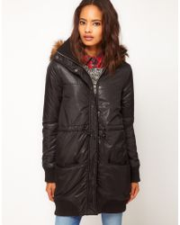 ASOS Collection Asos Longline Parka Jacket - Lyst
