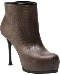Saint Laurent Tribtoo Boot brown - Lyst