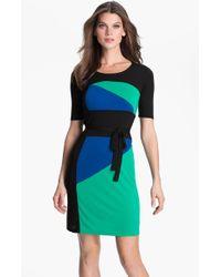 BCBGMAXAZRIA Leticia Colorblock Jersey Dress - Lyst