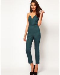Asos Jumpsuit With Pleat Bust Origami Detail - Lyst