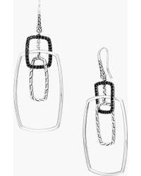 John Hardy Classic Chain Rectangular Drop Earrings - Lyst