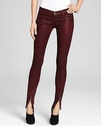 Retrosuperfuture - Hudson Jeans Juliette Waxed Skinny with Ankle Zip - Lyst