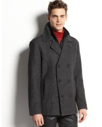 American Rag Wool Blend Twill Coat - Lyst