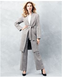 Calvin Klein Tweed Tabfront Trousers - Lyst