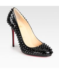 Christian Louboutin Fifi Spiked Patent Leather Pumps black - Lyst