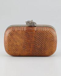 House of Harlow 1960 - Tilda Framed Snakeembossed Clutch Bag - Lyst
