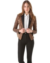 BCBGMAXAZRIA Bowie Leopard Tux Jacket - Lyst